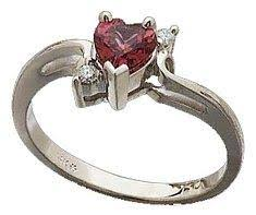 Garnet Promise Ring From Amazon