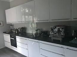 ikea küche hochglanz weiß inklusive miele backofen und