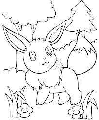 Pokemon Coloring Pages Eevee Colouring