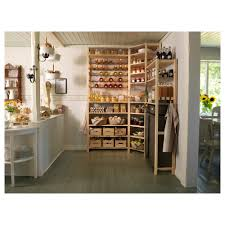 ivar 3 sections shelves cabinet pine grey 145 145x30x226 cm ikea