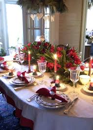 Christmas Dining Table Decorations Room Festive Dinner Decorating Simple