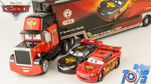 Disney Cars Mack Truck Carbon Racers Launcher Lightning McQueen ...