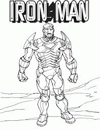 Iron Man Colouring Pages