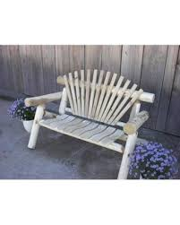 Amazing Deal on Furniture Barn USA White Cedar Log Rustic Park Bench