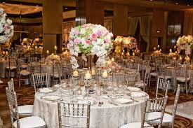 Wedding Reception Table With Rose Hydrangea Orchid In White Pink And Pale
