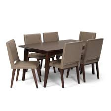Simpli Home Draper 7-Piece Dining Set With 6 Upholstered Dining ... Set Of Two Mid Century Modern Accent Chairs In Blonde Oak And Black Find More Table With Leaf 4 150 Poos New Price Shop Copper Grove Siuslaw Finished Ding Chair 2 Riga 5 Pce Suite Focus On Fniture Simpli Home Draper 7piece With 6 Upholstered Crown Range Ltd Scanstywheorblackdingchairwithnaturaloaklegs New Nord 79500 Port Extendable By Harry Ostergaard The Vintage Room Room Ideas Ladder Back