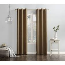 Lichtenberg Curtains No 918 by Semi Opaque Taupe No 918 Casual Montego Woven Grommet Top Curtain