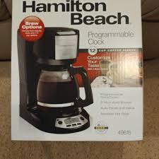 Hamilton Beach 12 Cup Programmable Coffee Maker Pot NEW