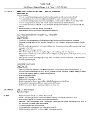 Download Cosmetic Manager Resume Sample As Image File