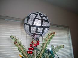 Dalek Christmas Tree Topper by Diy Glittery Death Star Holiday Tree Topper Offbeat Home U0026 Life