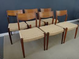 Set Of Six Danish Cord Dining Chairs In Moller Style - Retrocraft ... Danish Midcentury Modern Rosewood And Leather Ding Chairs Set Of Scdinavian Ding Chairs Made Wood Rope 1960s 65856 Mid Century Teak Seagrass Style Layer Design Aptdeco 6 X Style Room Chair 98610 Living Room Fniture Replica Wooden And Rattan 2 68007 Pad Lifestyle Herringbone Sven Ding Chair Sophisticated Eight Brge Mogsen In Vintage Market Weber Chair Weberfniturecomau Vintage Danish Modern