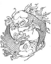 Koi Carp Fish Coloring Pages