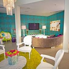 Living Room With Turquoise Accent Wall
