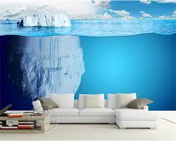 Modern 3D Iceberg Wallpaper Seascape Photo Custom Mural Con 3d Painting On Bedroom Wall E 750x603px