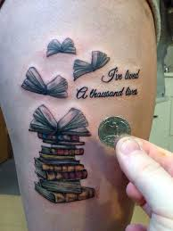 Adorable Book Tattoo Design Every Lover Can Relate To