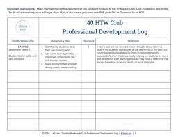 Professional Development Hours Log