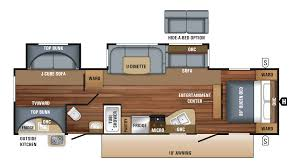 Travel Trailer Floor Plans Rear Kitchen by 2018 Jayco Jay Flight 32bhds Model