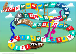 Click To See Printable Version Of Board Game With Snakes And Ladders Paper Craft