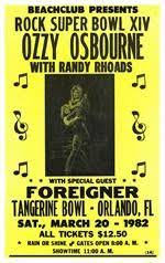 Ozzy Osbourne Tangerine Bowl Concert Poster