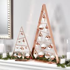 Modern Copper Frame Trees With Ornaments In And White Look Adorable