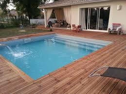 margelle piscine en bois margelle bois piscine chlore liquide bayrol closdestreilles