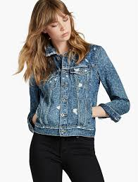 womens embroidered denim jackets lucky brand