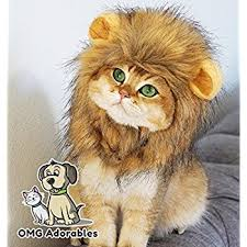 costume for cat mane wig for and cat costume pet adjustable