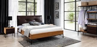 3 tlg komplett set holz schlafzimmer loft stil design bett kommode schrank neu
