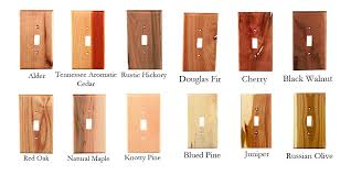 traditional wood single switch plate