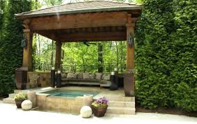 Pergola : Spa Gazebo Likable Hot Tub Gazebo Ideas' Valuable Spa ... Backyard Pavilion Design The Multi Purpose Backyards Awesome A16 Outdoor Plans A Shelter Pergola Treated Pine Single Roof Rectangle Gazebos Gazebo Pinterest Pictures On Excellent Designs Home Decoration Wonderful Pavilions Gallery Pics Images 50 Best Pnic Shelters Images On Pnics Pergola Free Beautiful Wooden Patio Ideas Decorating With Fireplace Garden Tan Sofa Set Get Doityourself Deck