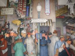 coit tower mural city life by victor arnautoff living new deal
