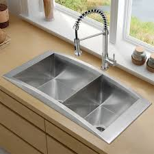Overmount Double Kitchen Sink by Stainless Steel Drop In Kitchen Sinks U2014 The Homy Design