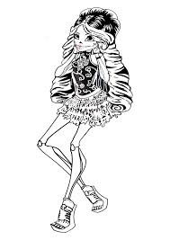 Monster High Skelita Calaveras Coloring Page