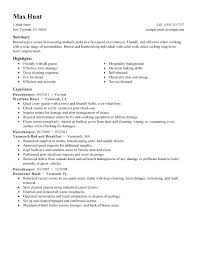 Housekeeper Resume Sample Executive Cv Samples