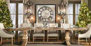 Rh Dining Table Contemporary Room With Restoration Hardware Salvaged Wood Trestle Rectangular Extension