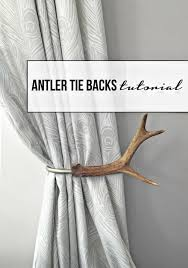 Antler Curtain Tie Backs by Tutorial How To Make Antler Curtain Tie Backs Tfd Style