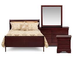 louie 4 pc bedroom set furniture row