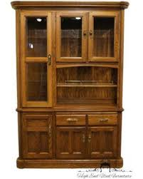 amazing deal on richardson brothers solid oak 58 lighted china cabinet
