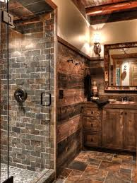 rustic tile shower houzz