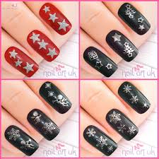 100 Nail Art 2011 Christmas Adhesive Sticker Set UK