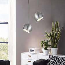 s luce pendelleuchte 20cm mit verstellbarem drehbarem kopf für gerichtetes licht zum lesen oder indirektes licht im schlafzimmer nachttisch alu