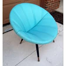 Oversized Saucer Chair Zebra Print by Mid Century Modern Turquoise Clam Saucer Chair Chairish