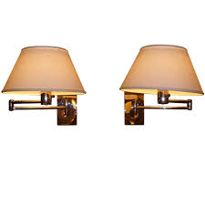 lovable swing arm wall light pair of nessen chrome swing arm wall