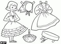 German Doll Dress Up Game Coloring Page Printable
