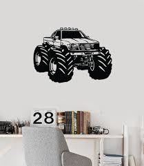 Monster Truck Vinyl Wall Decal Car Son Room Decor Garage Art ... Monster Trucks Wall Stickers Online Shop Truck Decal Vinyl Racing Car Art Blaze The Machines A Need For Speed Sticker Activity Book Cars Motorcycles From Smilemakers Crew Wild Run Raptor Monster Spec And New Stickers Youtube Build Rc 110 Energy Ken Block Drift Self Mutt Dalmatian Pack Jam Rockstar Sheets Get Me Fixed And Crusher Super Tech Cartoon By Mechanick Redbubble Ford Decals Australia