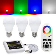 rgbw led kit rgb white led bulbs wifi controller remote torchstar