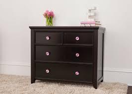 Pink Flower Dresser Knobs by 2 Over 2 Drawer Dresser Espresso Craft Bedroom Furniture