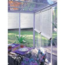 Patio Curtains Outdoor Plastic by Radiance 1 4 U0027 U0027 Oval Pvc Roll Up Blinds Walmart Com