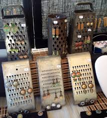 Cute Way To Display Earrings On An Antique Cheese Grater Diy