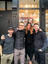 Laughing Man Coffee Company On Twitter Well Hey VancityReynolds Thanks For Coming By The Cafe Today With RealHughJackman DavidSteingard CrissyLind